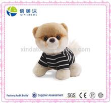 Good Handmade Soft Plush Lovely Dog Doll in T-Shirt