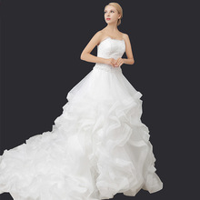 New Bra lotus leaf lace long skirt was thin wedding Princess Bride buying wedding dress from china
