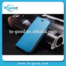 New Fashion Luxury Handmade Genuine Leather Prestigio Mobile Phone Case For iPhone6 (Blue)