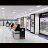 makeup display case and mall cosmetic kiosk for makeup