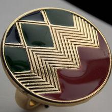 2014 qingdao jewelry fashion circle zig zag enamel ring