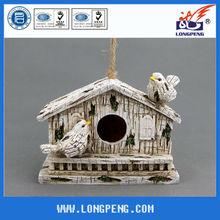 White Resin Decorative Hanging Bird Nest