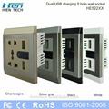 Usb de alimentación 220v doble salida usb zócalo de pared 5v2.1a 5v2.4a y teléfonos de carga sin cargadores