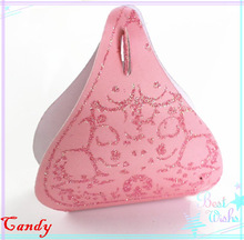 Classic Fancy Cute Pink Color Glitter Pattern Chocolate shape Wedding Souvenir Paper Candy Gift Boxes