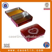 High quality pretty rectangle custom gift tin box