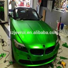 Chrome Ice Matte Green Vinyl Car wrap Film / Matte chrome 3m sticker/ car or bus body sticker design