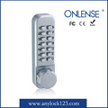 Combination mechanical lock with keypad code security