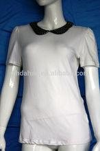 peter pan colletto a maniche corte immagini di donne magliette casual