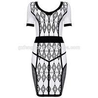 mature women sexy night dress,night dress for fat ladies printed bandage dress