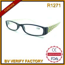 ultima moda in occhiali occhiali da lettura di plastica con strass porcellana online che vendono