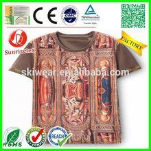 New Develop Cheap printed black men promotion t shirt Factory