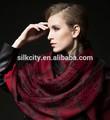 100% a mano de lana de punto bufanda mantón de pashminas