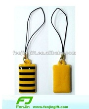 customized promotional mobile pendant pvc phone cleaner