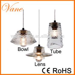 Tom Dixon BOWL/LENS/TUBE Pressed Glass Pendant Lamps