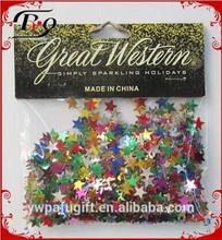 party favor decoration multicolored star shaped PVC confetti
