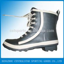 rubber high heel male rain boots black