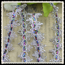 handmade ribbon flower colorful accessories lace trim