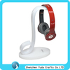Customize Shaped Acrylic Headphone Display Rack, Elegant White Headset Holder, Plastic Headphone Stand