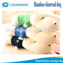 Cartoon big head dog stuffed bamboo charcoal plush dog toys