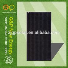 315W mono pv solar panel ALL BLACK and Monocrystalline Silicon Material solar panel