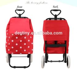 High quality fashion detachable folding shopping trolley bag retractable handle