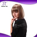 Guangzhou especial peinado corto y largo de color marrón rojizo y negro 100% kanekalon pelucas para europa y américa forman a mujeres