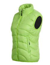 2014 Lady's Hot Sale Green Down Vest Body Warmer Fashion High Quality Duck Down Vest/Winter Vest/Women Vest