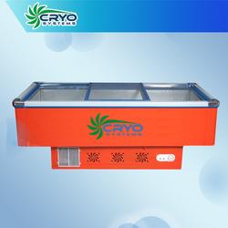 island cooler , fruit and vegetable display freezer