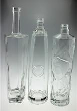 UNIQUE SHAPED GLASS BOTTLE 750ML/ALCOHOL GLASS BOTTLE 750 ML