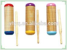 Educación entretenimiento musical instrumentos de percusión de madera pequeño guiro