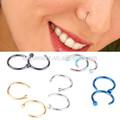 La parte superior de la moda!! Nueva llegada de médicos de titanio nariz nariz aro anillos de acero inoxidable anillo en el ombligo joyería piercing del cuerpo