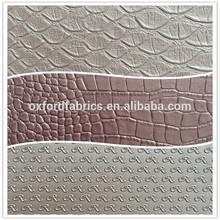 wholesale waterproof embossed pu leather for car seat/furniture/shoe/sofa/bags