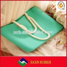 2014 best selling woman accessories rubber handbag
