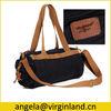 0114 High Quality Retro Men Black Medium Carry-on Duffel Travel Bag with Shoulder Strap