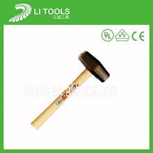 Carbon steel Good quality wood handle stone breaking hammer