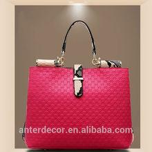 2014 wholesale red bag genuine leather handbag woman bag