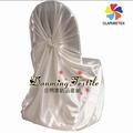 Fábrica al por mayor de alta calidad de auto- corbata de satén cubierta de la silla, universal de satén cubierta del asiento para decoración de la boda.