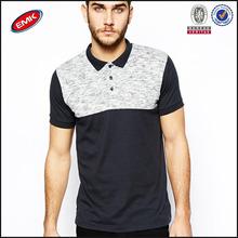 trendy colour block polo shirt cotton elastane