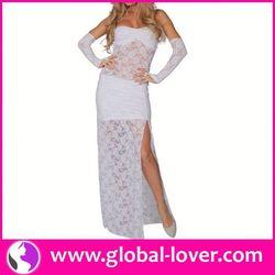 Hot selling short wedding dresses long tail
