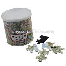 100pcs fridge magnet city puzzle