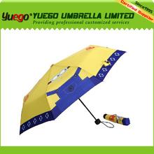 china supplier,new product,aluminum hooks yellow umbrella