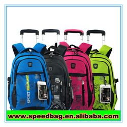 Colorful school trolley bag small suitcase wheeled school backpack
