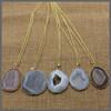 LS-D953Newest ! Bezel Pendant necklace, gemstone necklace, druzy pendant necklacce