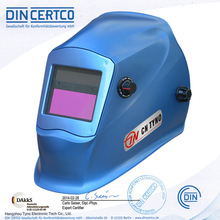 CE ANSI Blue welding helmet with grinding function auto darkening (TN10E)