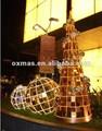 led de luz de navidad bola grande al aire libre para la decoración de la luz