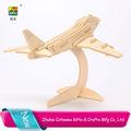 2014 cotowins 3d puzzle de madeira avião minlitary fornecer brinquedo avião de guerra