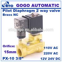 Pneumatic Pilot Diaphragm solenoid valve for water cheap price 12v 24v 110v 220v