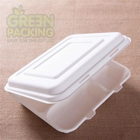 10 inch sugarcane pulp biodegradable take away lunch box