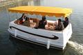 Sanj 2014 de fibra de vidro pontão catamarã barco