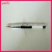 2015 YASHI Acrylic Nail Brush Set with rhinestones Handle UV Nail PolishBrush